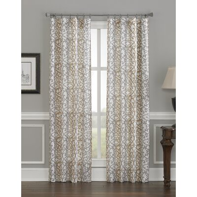 "CHF Industries Damask Stripe Curtain Panel - Color: Gold, Size: 84"" at Sears.com"