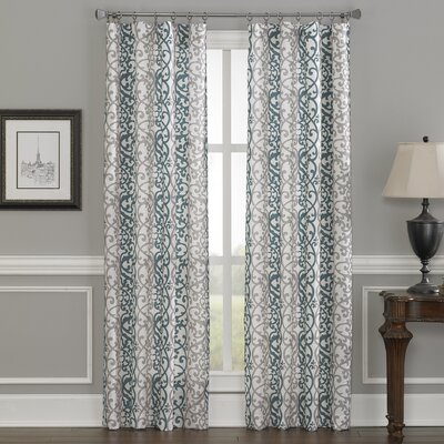 Damask Single Curtain Panel
