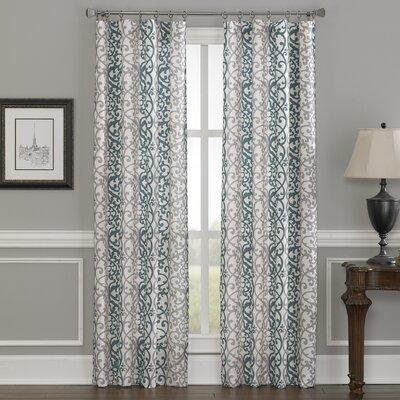Damask Single Curtain Panel