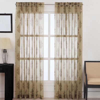 "CHF Industries Kingsbury Sheer Curtain Panel - Size: 84"", Color: Gold at Sears.com"