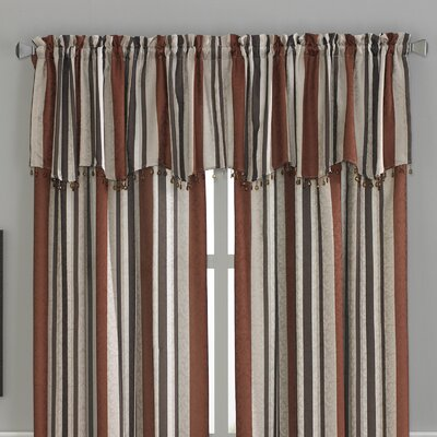 CHF Industries Mercury Stripe Scallop Curtain Valance - Color: Scarlet at Sears.com