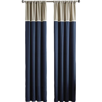 Accolade Single Curtain Panel Color: Indigo, Size: 50 W x 63 L