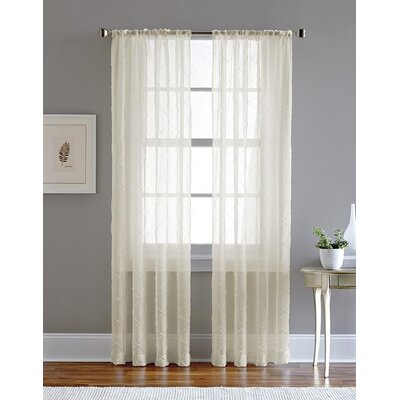 Chf Pintuck Solid Sheer Single Curtain Panel