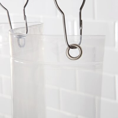 Shower Curtain Base Color: Clear