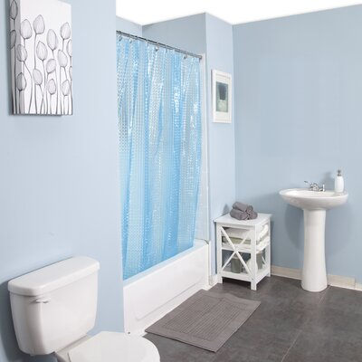 Peva Embossed Shower Curtain Color: Blue