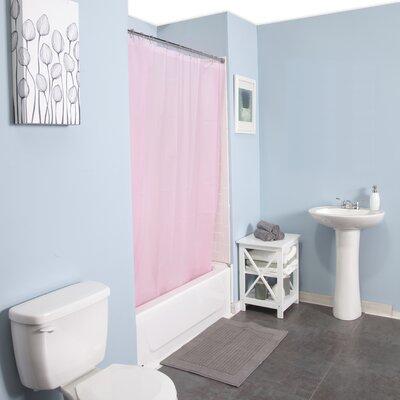 Peva Shower Curtain Set Color: Pink