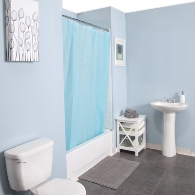 Peva Shower Curtain Set Color: Blue