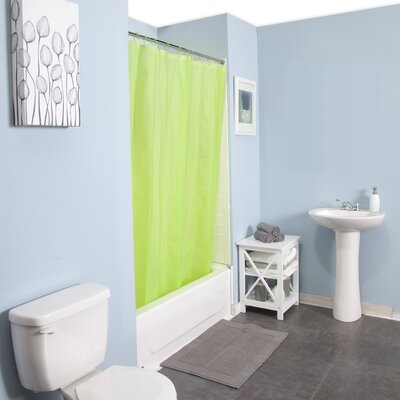 Peva Shower Curtain Set Color: Green