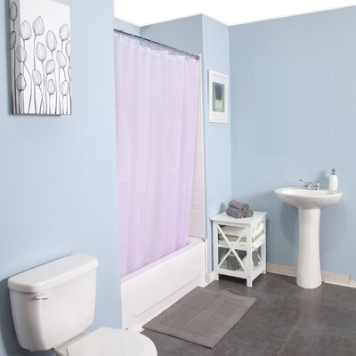 Peva Shower Curtain Set Color: Lavender