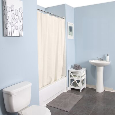 Peva Shower Curtain Set Color: Cream