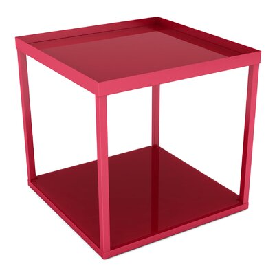 Modular End Table Color: Red