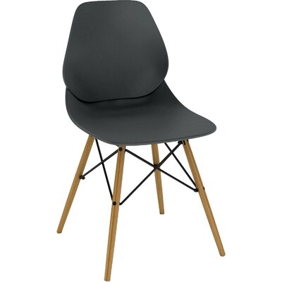Vaarna Side Chair Upholstery: Black