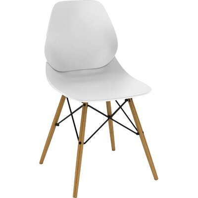 Vaarna Side Chair Upholstery: White