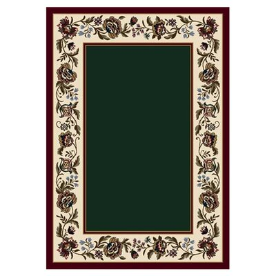 Signature Penelope Emerald Area Rug Rug Size: Rectangle 109 x 132