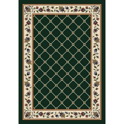 Signature Symphony Emerald Area Rug Rug Size: Rectangle 109 x 132