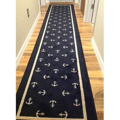 Design Center Sapphire Moray Area Rug Rug Size: Runner 24 x 118