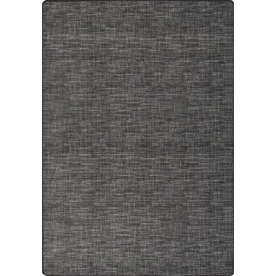 Imagine Broadcloth Black Linen Area Rug Rug Size: 310 x 53