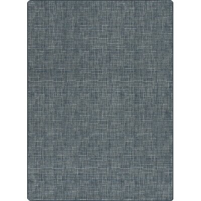 Imagine Broadcloth Brushed Denim Area Rug Rug Size: Rectangle 27 x 310