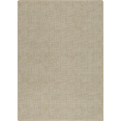 Imagine Broadcloth Beige Area Rug Rug Size: 53 x 78