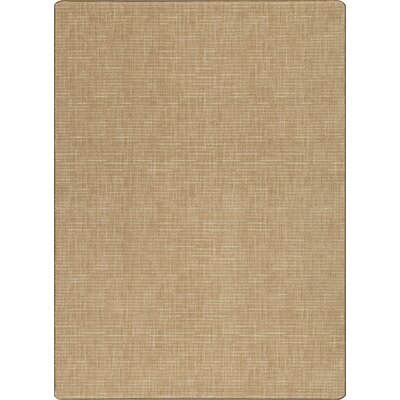 Imagine Broadcloth Flax Area Rug Rug Size: 53 x 78