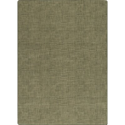 Imagine Broadcloth Grasscloth Green Area Rug Rug Size: Rectangle 53 x 78