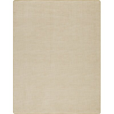 Imagine Broadcloth Raw Silk Beige Area Rug Rug Size: 53 x 78