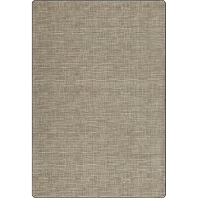Imagine Broadcloth Silvered Taupe Area Rug Rug Size: Rectangle 78 x 109