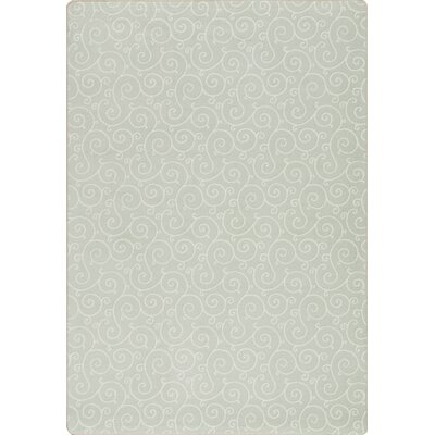 Imagine Lyrical Aqua Mist Area Rug Rug Size: 78 x 109