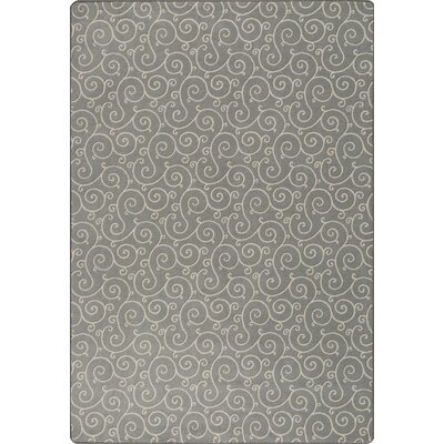Imagine Lyrical Calvary Gray Area Rug Rug Size: Rectangle 53 x 78