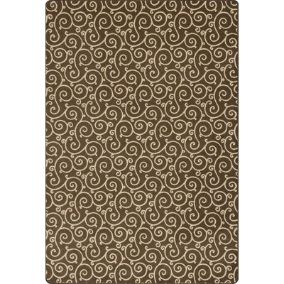Imagine Lyrical Henna Area Rug Rug Size: 53 x 78