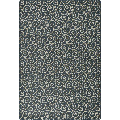 Imagine Lyrical Imperial Black Area Rug Rug Size: 53 x 78