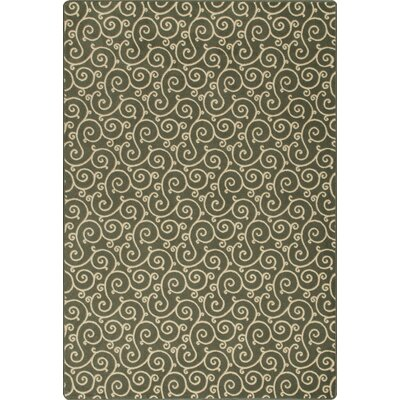 Imagine Lyrical Ivy Area Rug Rug Size: 78 x 109