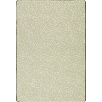 Imagine Lyrical Lime Blossom Area Rug Rug Size: 21 x 78