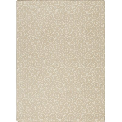Imagine Lyrical Parchment Area Rug Rug Size: 78 x 109
