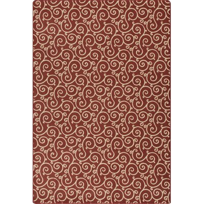 Imagine Lyrical Regatta Red Area Rug Rug Size: 78 x 109
