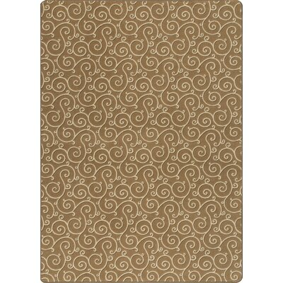 Imagine Lyrical Resin Area Rug Rug Size: 53 x 78