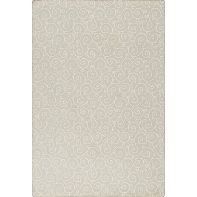 Imagine Lyrical Soft Ecru Area Rug Rug Size: 53 x 78