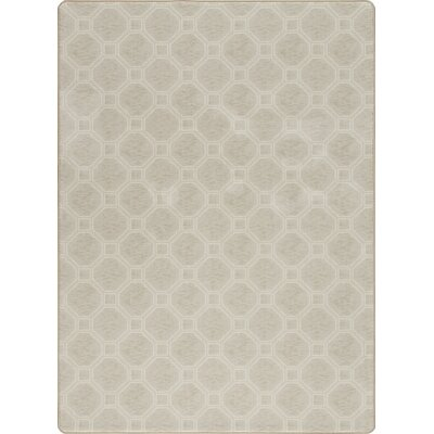Imagine Stonebridge Pearl Area Rug Rug Size: 53 x 78