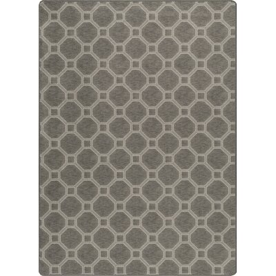 Imagine Stonebridige Smoked Silver Area Rug Rug Size: Rectangle 78 x 109