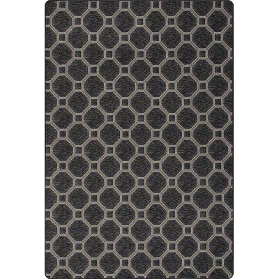 Imagine Stonebridge Black Area Rug Rug Size: Rectangle 78 x 109