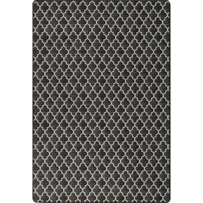 Imagine Essex Manor Black Area Rug Rug Size: Rectangle 78 x 109