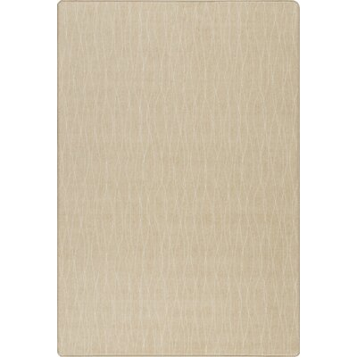 Imagine Flow Parchment Area Rug Rug Size: 53 x 78