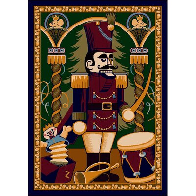 Winter Seasonal Nutcracker Area Rug Rug Size: Rectangle 28 x 310