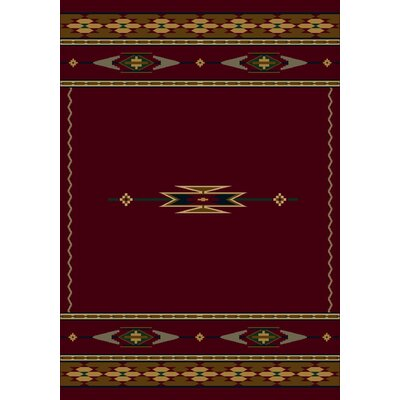 Signature Eagle Canyon Garnet Area Rug Rug Size: 54 x 78