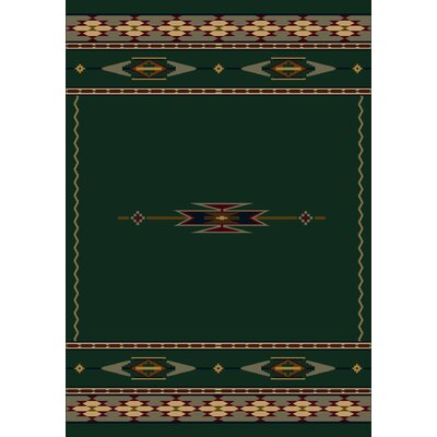 Signature Eagle Canyon Emerald Area Rug Rug Size: 54 x 78
