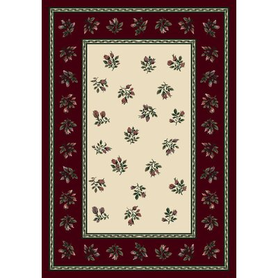 Signature Francesca Garnet Area Rug Rug Size: Rectangle 54 x 78