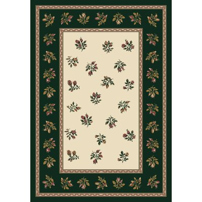 Signature Francesca Emerald Area Rug Rug Size: Rectangle 78 x 109