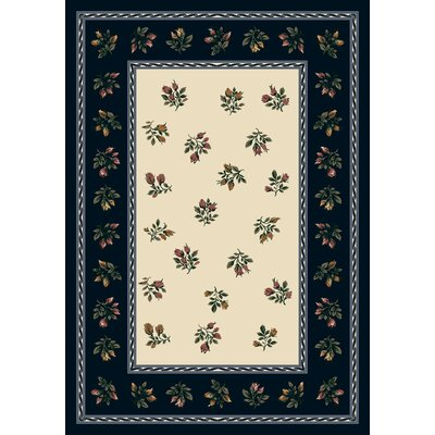 Signature Francesca Sapphire Area Rug Rug Size: Rectangle 109 x 132