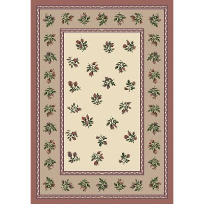 Signature Francesca Light Rose Area Rug Rug Size: Rectangle 109 x 132