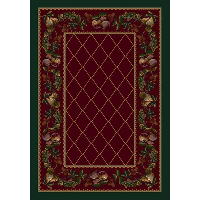 Signature Fruit Medley Garnet Area Rug Rug Size: Rectangle 54 x 78